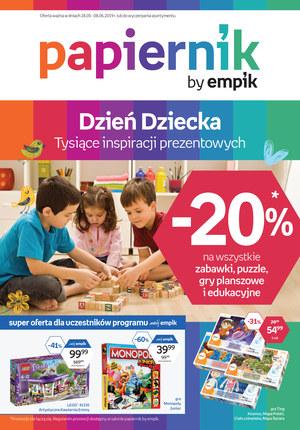 Gazetka promocyjna Papiernik by Empik, ważna od 24.05.2019 do 08.06.2019.