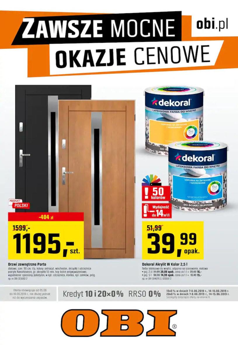 Gazetka promocyjna OBI - ważna od 05. 06. 2019 do 18. 06. 2019