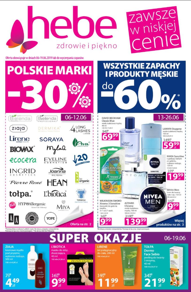 Gazetka promocyjna Hebe - ważna od 06. 06. 2019 do 19. 06. 2019