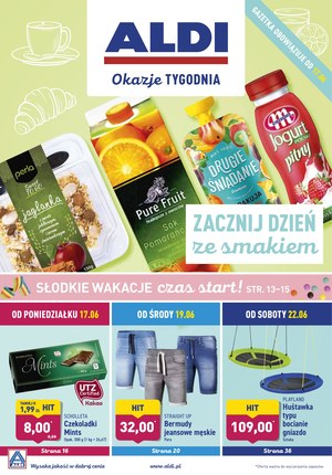 Gazetka promocyjna Aldi, ważna od 17.06.2019 do 22.06.2019.