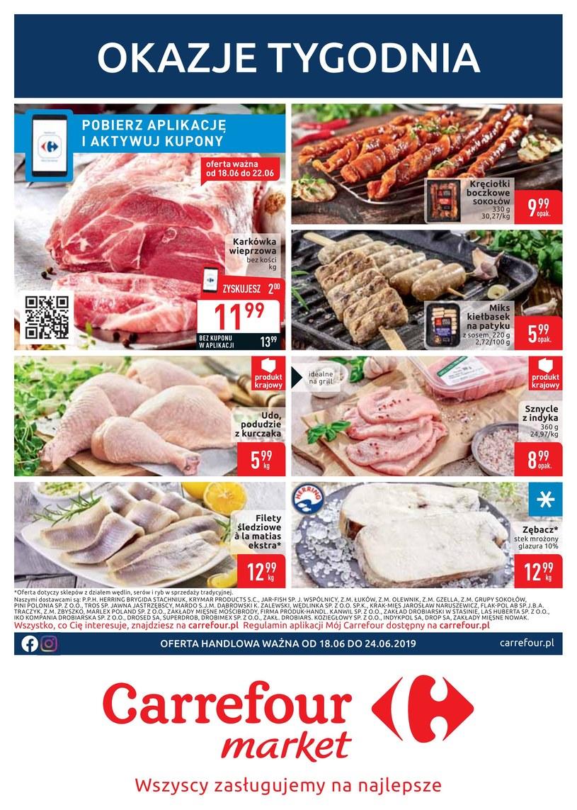 Gazetka promocyjna Carrefour Market - ważna od 18. 06. 2019 do 24. 06. 2019