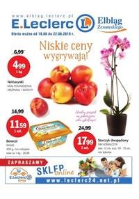 Gazetka promocyjna E.Leclerc, ważna od 18.06.2019 do 22.06.2019.