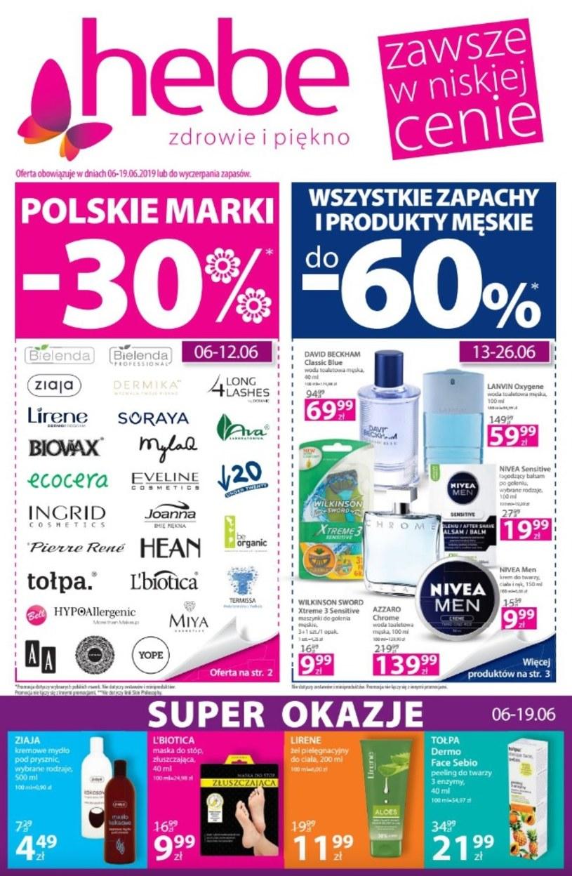 Gazetka promocyjna Hebe - ważna od 20. 06. 2019 do 03. 07. 2019