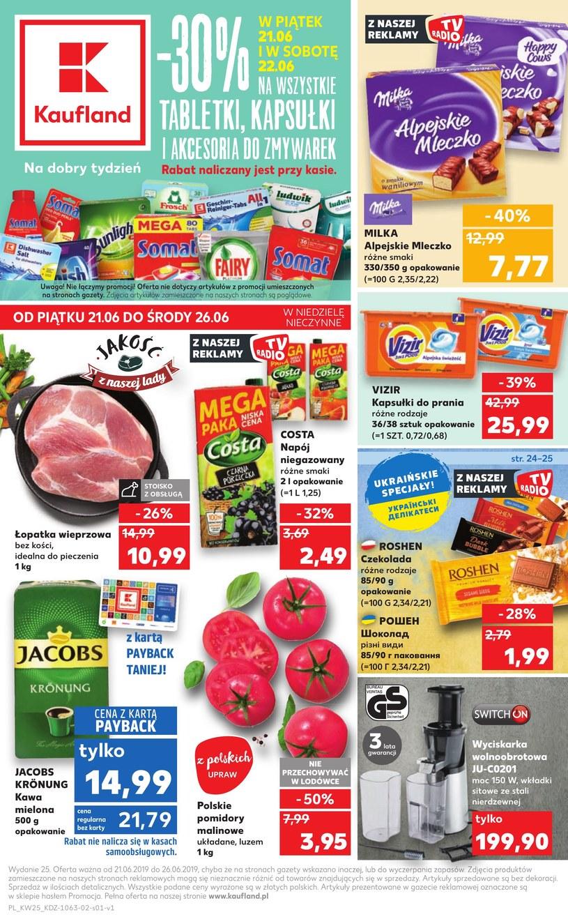 Gazetka promocyjna Kaufland - ważna od 21. 06. 2019 do 26. 06. 2019