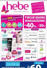 Gazetka promocyjna Hebe, ważna od 20.06.2019 do 03.07.2019.