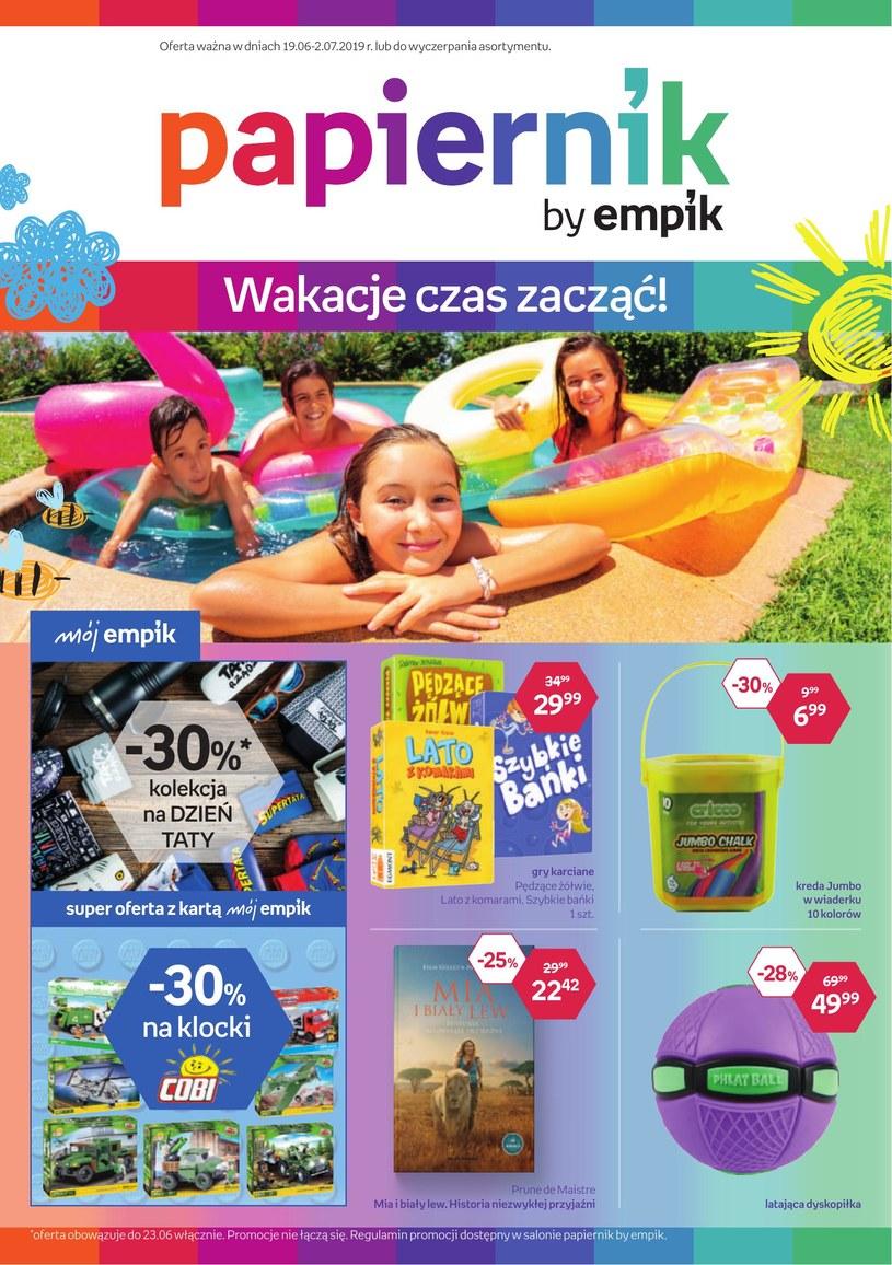 Gazetka promocyjna Papiernik by Empik - ważna od 19. 06. 2019 do 02. 07. 2019