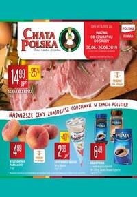 Gazetka promocyjna Chata Polska, ważna od 20.06.2019 do 26.06.2019.