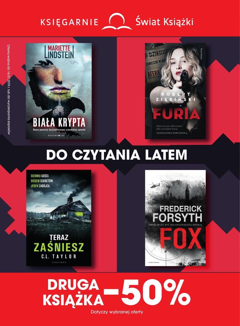 Gazetka promocyjna Księgarnie Świat Książki - ważna od 19. 06. 2019 do 16. 07. 2019