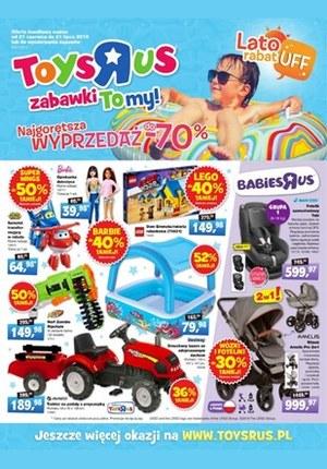 """Gazetka promocyjna Toys""""R""""Us, ważna od 21.06.2019 do 21.07.2019."""
