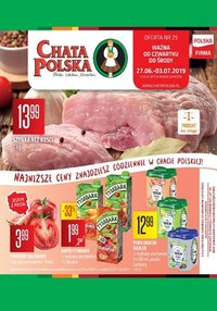 Gazetka promocyjna Chata Polska, ważna od 27.06.2019 do 03.07.2019.