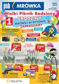 Gazetka promocyjna PSB Mrówka, ważna od 05.07.2019 do 28.07.2019.