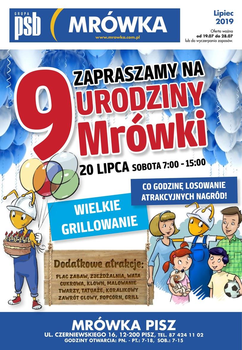 Gazetka promocyjna PSB Mrówka - ważna od 19. 07. 2019 do 28. 07. 2019