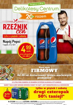 Gazetka promocyjna Delikatesy Centrum, ważna od 04.07.2019 do 10.07.2019.