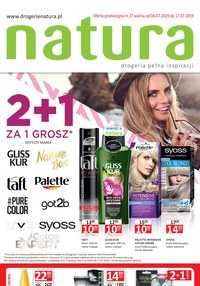 Gazetka promocyjna Drogerie Natura, ważna od 04.07.2019 do 17.07.2019.