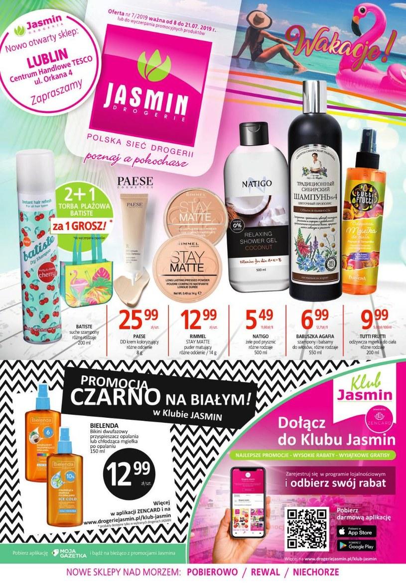 Gazetka promocyjna Jasmin Drogerie - ważna od 08. 07. 2019 do 21. 07. 2019