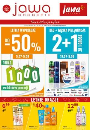 Gazetka promocyjna Jawa Drogerie, ważna od 04.07.2019 do 05.08.2019.