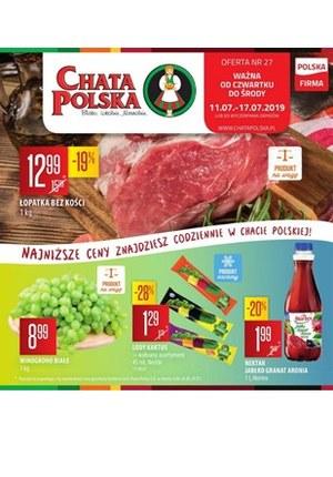 Gazetka promocyjna Chata Polska, ważna od 11.07.2019 do 17.07.2019.