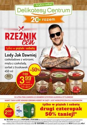 Gazetka promocyjna Delikatesy Centrum, ważna od 11.07.2019 do 17.07.2019.