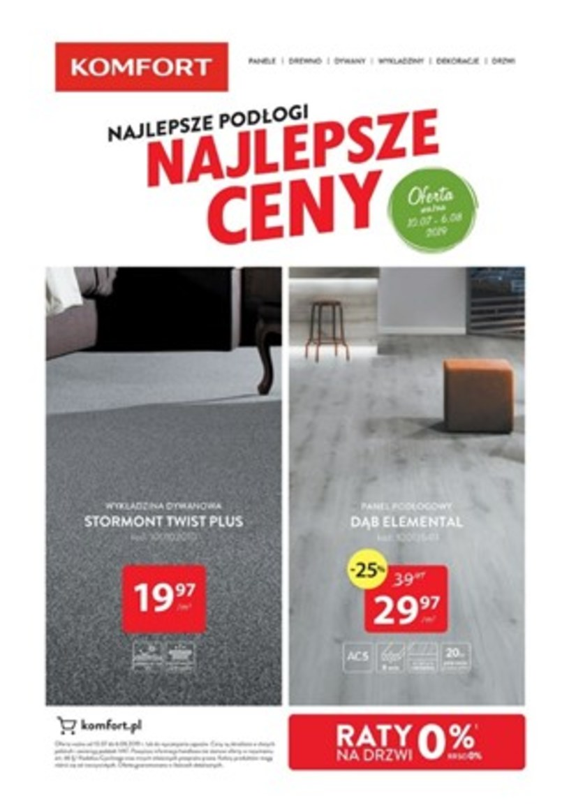 Gazetka promocyjna Komfort - ważna od 10. 07. 2019 do 06. 08. 2019