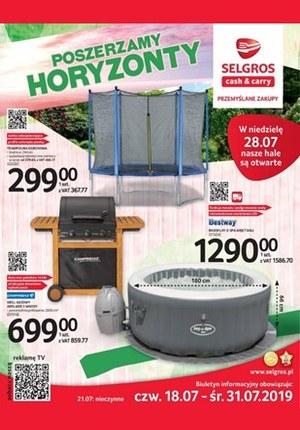 Gazetka promocyjna Selgros Cash&Carry, ważna od 18.07.2019 do 31.07.2019.