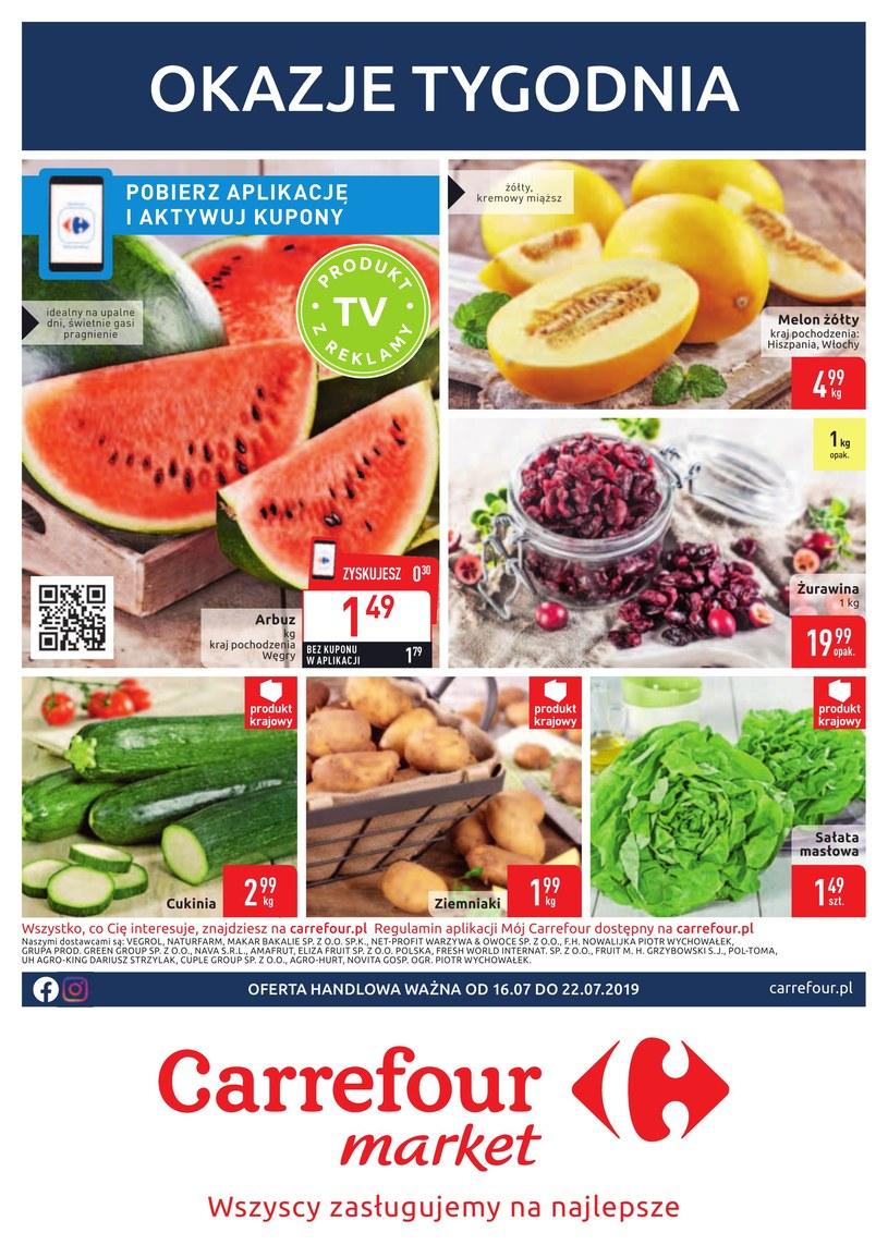 Gazetka promocyjna Carrefour Market - ważna od 16. 07. 2019 do 22. 07. 2019
