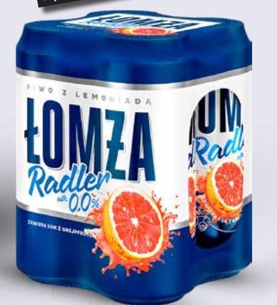 Piwo Łomża Radler 0,0% grapefruit niska cena