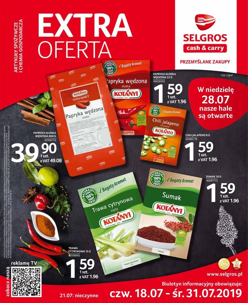Gazetka promocyjna Selgros Cash&Carry - ważna od 18. 07. 2019 do 31. 07. 2019