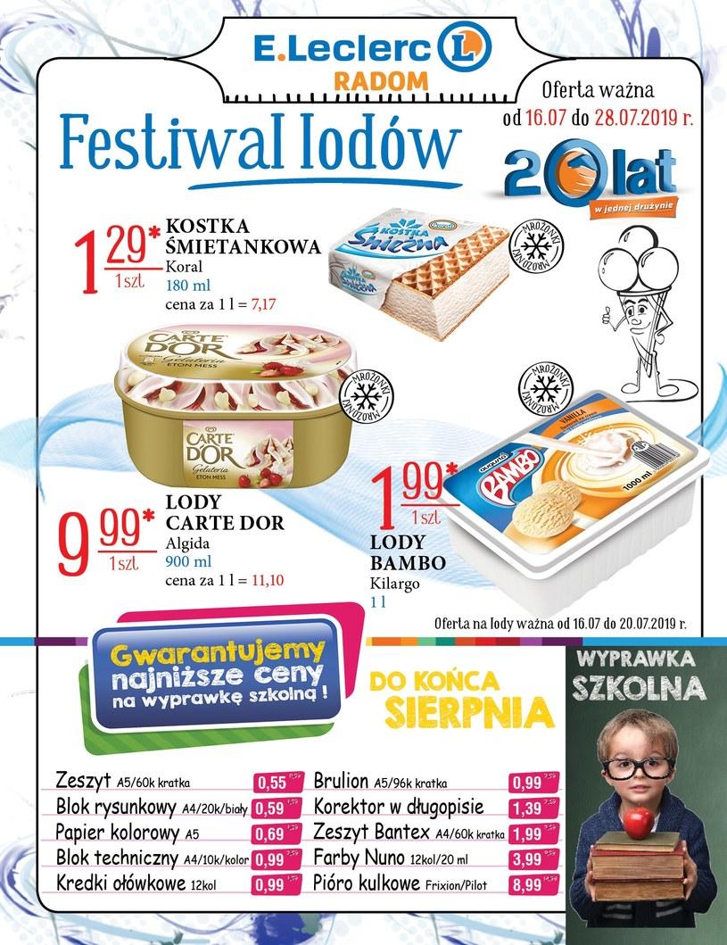 Gazetka promocyjna E.Leclerc - ważna od 16. 07. 2019 do 28. 07. 2019