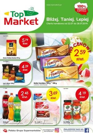 Gazetka promocyjna Top Market, ważna od 22.07.2019 do 28.07.2019.