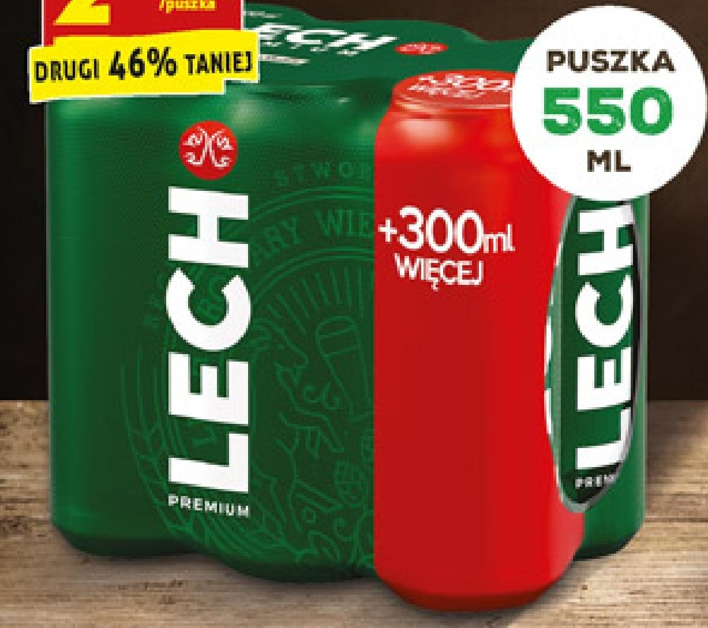 Piwo Lech Premium 6x550 ml niska cena