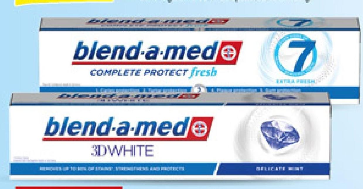 Pasta do zębów Blend-a-Med Complete 7 lub 3D White niska cena