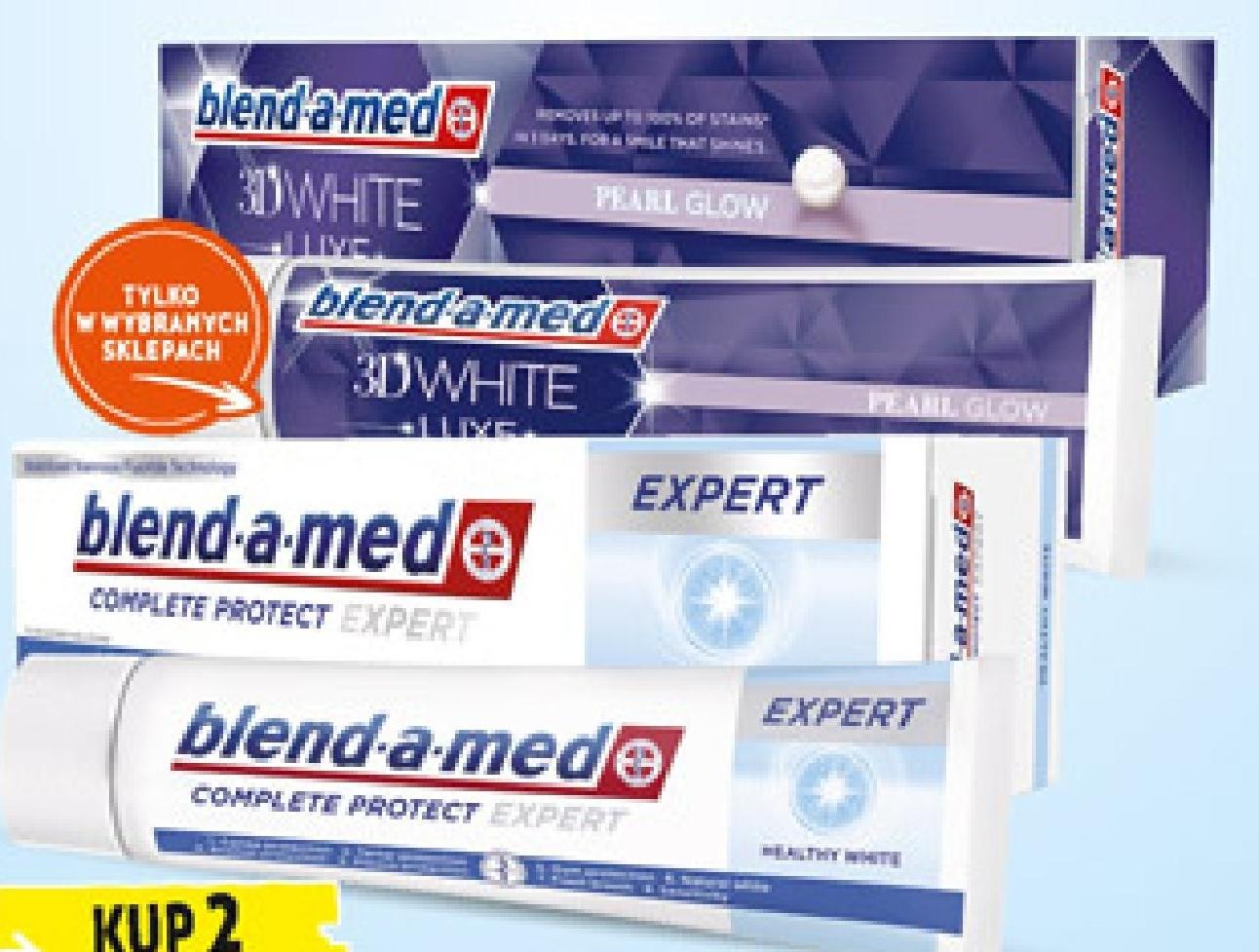 Pasta do zębów Blend-a-Med #D White Luxe, 85 ml lub Blend-a-Med Expert, 100ml niska cena