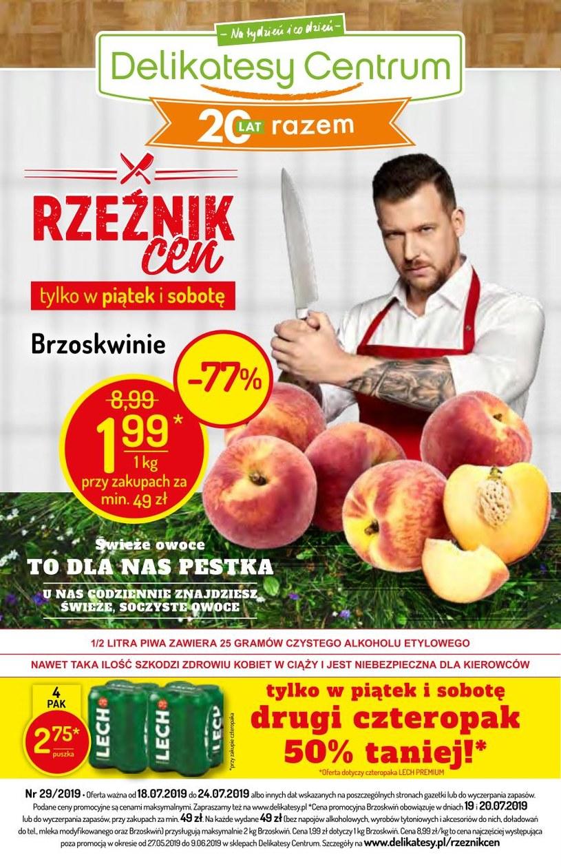 Gazetka promocyjna Delikatesy Centrum - ważna od 18. 07. 2019 do 24. 07. 2019