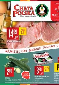 Gazetka promocyjna Chata Polska, ważna od 18.07.2019 do 24.07.2019.