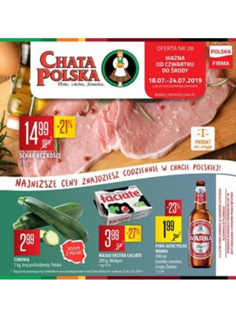Gazetka promocyjna Chata Polska - ważna od 18. 07. 2019 do 24. 07. 2019