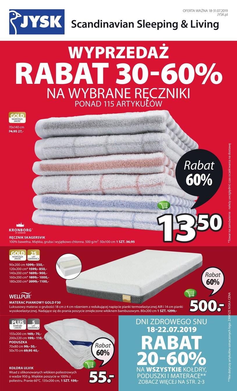 Gazetka promocyjna Jysk - ważna od 18. 07. 2019 do 31. 07. 2019