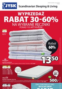 Gazetka promocyjna Jysk, ważna od 18.07.2019 do 31.07.2019.
