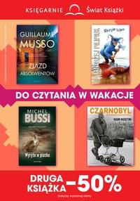 Gazetka promocyjna Księgarnie Świat Książki, ważna od 17.07.2019 do 13.08.2019.