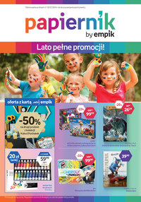 Gazetka promocyjna Papiernik by Empik, ważna od 17.07.2019 do 30.07.2019.