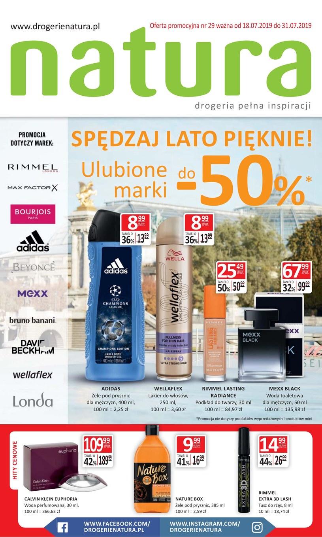 Gazetka promocyjna Drogerie Natura - ważna od 18. 07. 2019 do 31. 07. 2019