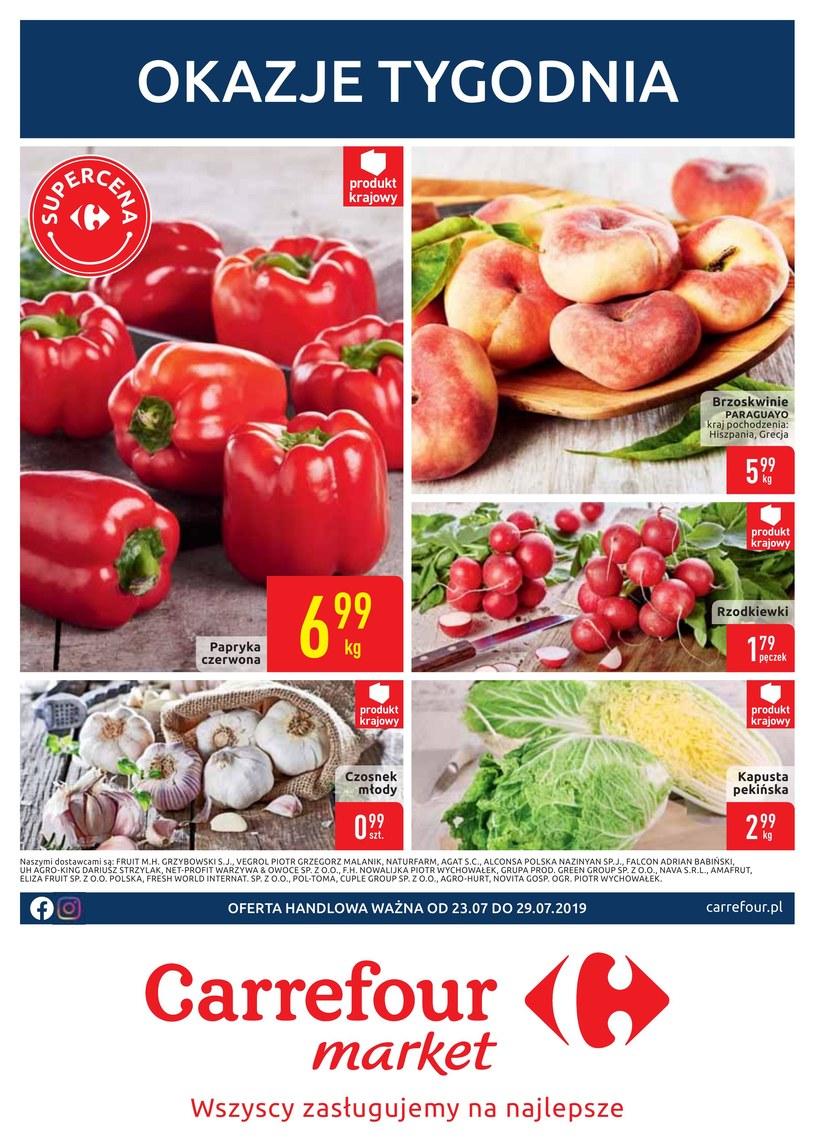 Gazetka promocyjna Carrefour Market - ważna od 23. 07. 2019 do 29. 07. 2019