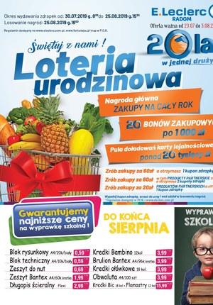 Gazetka promocyjna E.Leclerc, ważna od 30.07.2019 do 25.08.2019.
