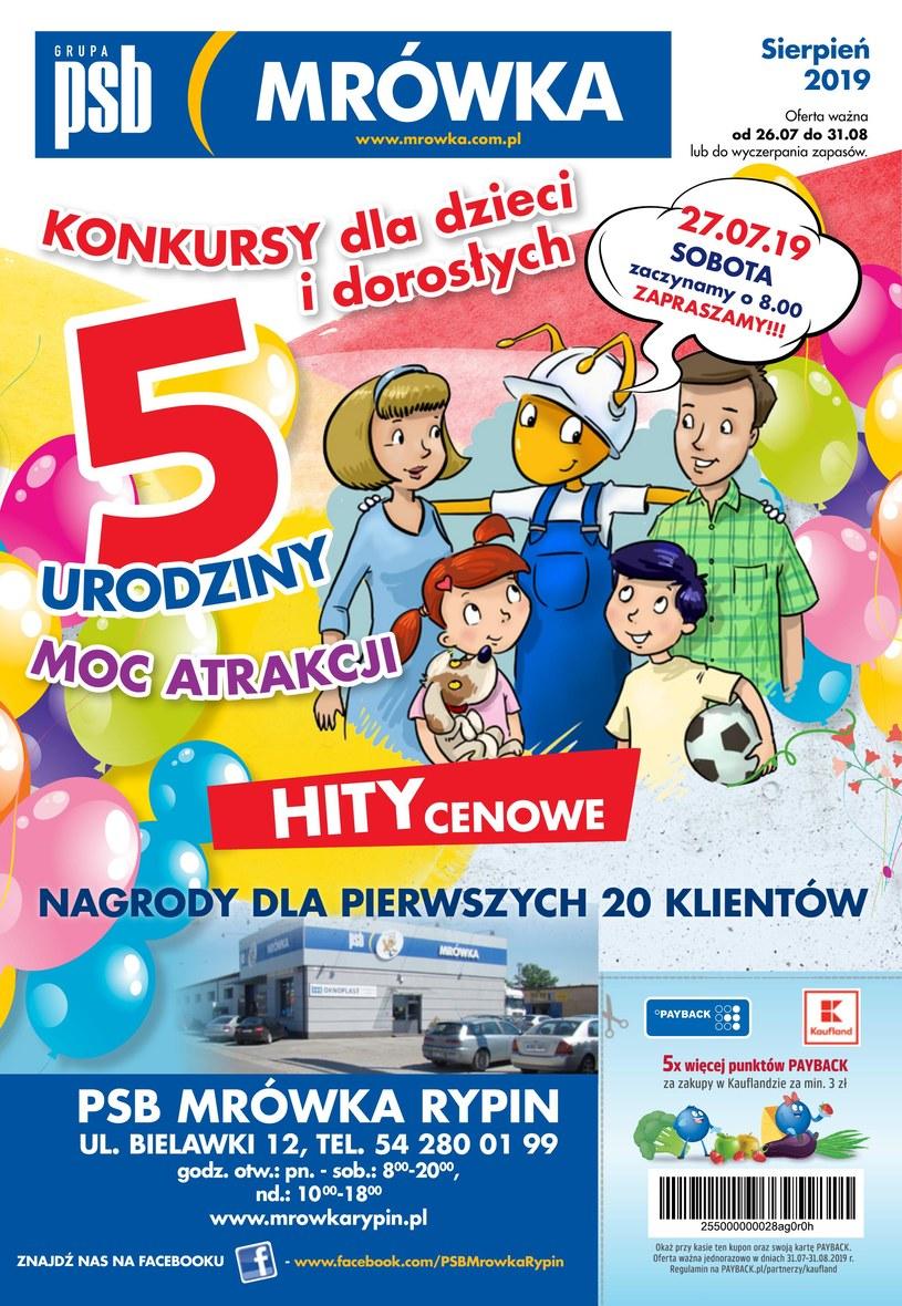 Gazetka promocyjna PSB Mrówka - ważna od 26. 07. 2019 do 31. 08. 2019