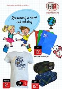 Gazetka promocyjna bi1 - Rozpocznij z nami rok szkolny - ważna do 20-08-2019