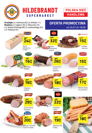 Gazetka promocyjna Hildebrandt, ważna od 26.07.2019 do 18.08.2019.