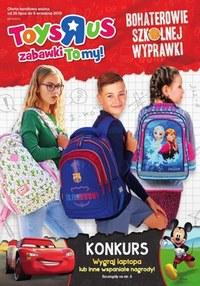 """Gazetka promocyjna Toys""""R""""Us - Bohaterowie szkolnej wyprawki   - ważna do 08-09-2019"""