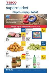 Gazetka promocyjna Tesco Supermarket - Ciepło, cieplej, RABAT  - ważna do 07-08-2019