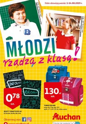 Gazetka promocyjna Auchan - Młodzi rządzą z klasą!