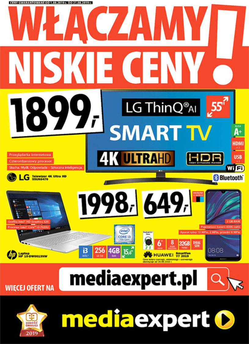 Gazetka promocyjna Media Expert - ważna od 01. 08. 2019 do 21. 08. 2019