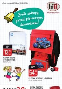 Gazetka promocyjna bi1 - Zrób zakupy przed pierwszym dzwonkiem - ważna do 13-08-2019